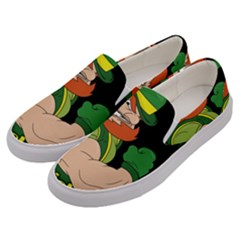 St  Patricks Day Men s Canvas Slip Ons by Valentinaart