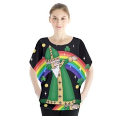 St  Patrick  Dabbing Blouse by Valentinaart