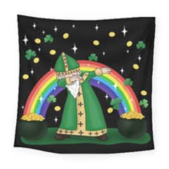 St  Patrick  Dabbing Square Tapestry (large) by Valentinaart