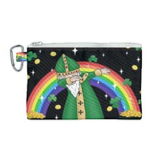 St  Patrick  Dabbing Canvas Cosmetic Bag (medium) by Valentinaart