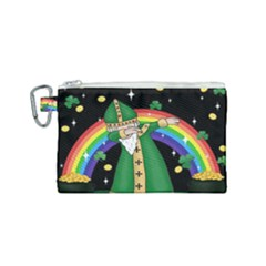 St  Patrick  Dabbing Canvas Cosmetic Bag (small) by Valentinaart