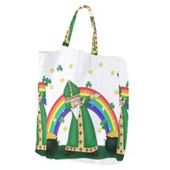 St  Patrick  Dabbing Giant Grocery Zipper Tote by Valentinaart