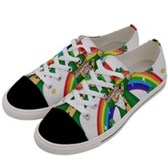 St  Patrick  Dabbing Women s Low Top Canvas Sneakers by Valentinaart