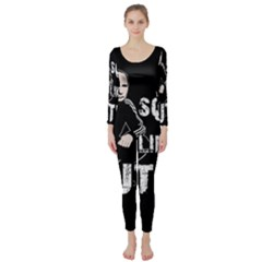 Squat Like Putin Long Sleeve Catsuit by Valentinaart