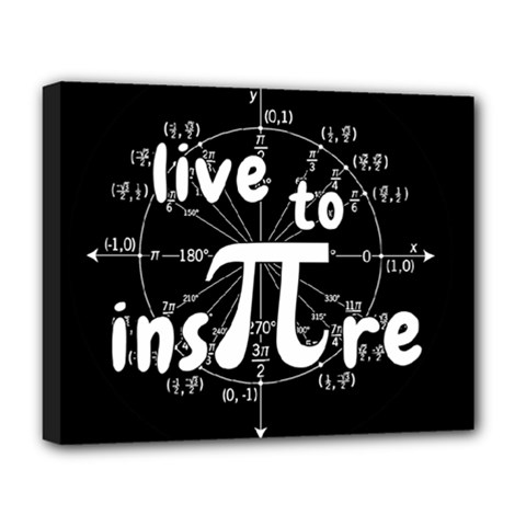 Pi Day Deluxe Canvas 20  X 16   by Valentinaart