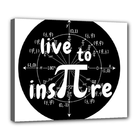 Pi Day Deluxe Canvas 24  X 20   by Valentinaart