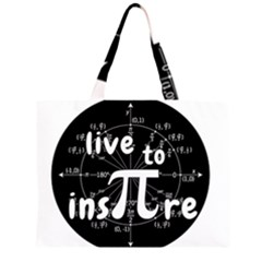 Pi Day Zipper Large Tote Bag by Valentinaart