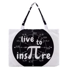 Pi Day Zipper Medium Tote Bag by Valentinaart