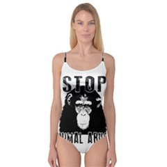 Stop Animal Abuse   Chimpanzee  Camisole Leotard
