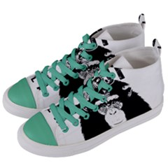 Stop Animal Abuse   Chimpanzee  Women s Mid Top Canvas Sneakers by Valentinaart