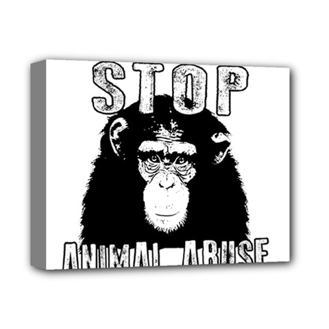 Stop Animal Abuse - Chimpanzee  Deluxe Canvas 14  x 11