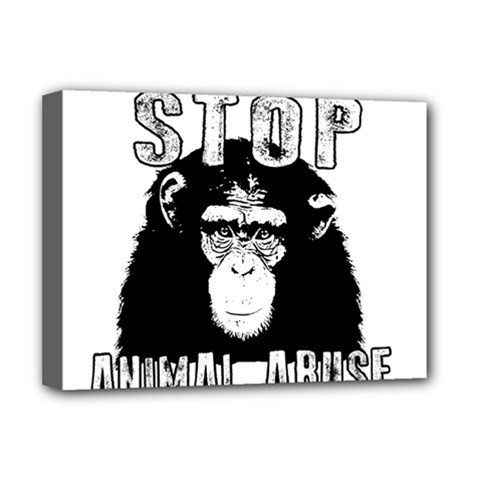 Stop Animal Abuse - Chimpanzee  Deluxe Canvas 16  x 12