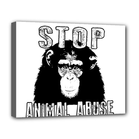 Stop Animal Abuse - Chimpanzee  Deluxe Canvas 20  x 16