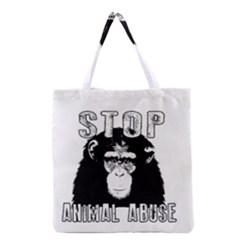 Stop Animal Abuse - Chimpanzee  Grocery Tote Bag