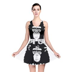 Stop Animal Abuse   Chimpanzee  Reversible Skater Dress by Valentinaart