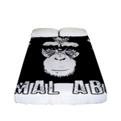 Stop Animal Abuse - Chimpanzee  Fitted Sheet (Full/ Double Size)