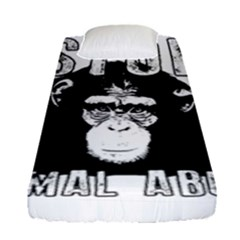 Stop Animal Abuse - Chimpanzee  Fitted Sheet (Single Size)