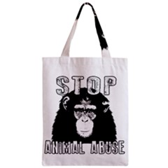 Stop Animal Abuse - Chimpanzee  Zipper Classic Tote Bag