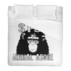 Stop Animal Abuse - Chimpanzee  Duvet Cover (Full/ Double Size)