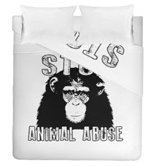 Stop Animal Abuse - Chimpanzee  Duvet Cover Double Side (Queen Size)