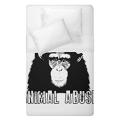 Stop Animal Abuse - Chimpanzee  Duvet Cover (Single Size)