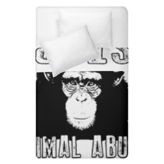 Stop Animal Abuse - Chimpanzee  Duvet Cover Double Side (Single Size)