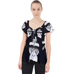 Stop Animal Abuse - Chimpanzee  Lace Front Dolly Top