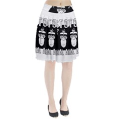 Stop Animal Abuse - Chimpanzee  Pleated Skirt
