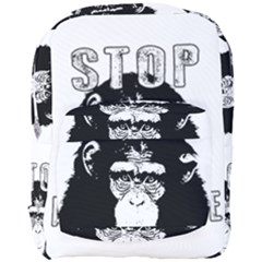 Stop Animal Abuse - Chimpanzee  Full Print Backpack