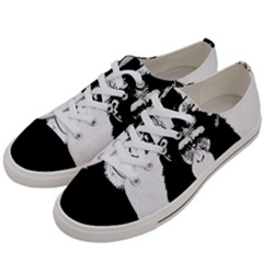 Stop Animal Abuse - Chimpanzee  Women s Low Top Canvas Sneakers