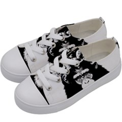 Stop Animal Abuse - Chimpanzee  Kids  Low Top Canvas Sneakers