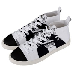 Stop Animal Abuse - Chimpanzee  Men s Mid-Top Canvas Sneakers