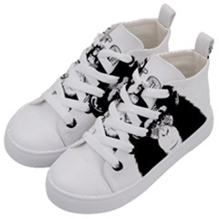 Stop Animal Abuse - Chimpanzee  Kid s Mid-Top Canvas Sneakers