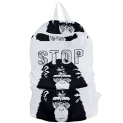 Stop Animal Abuse - Chimpanzee  Foldable Lightweight Backpack