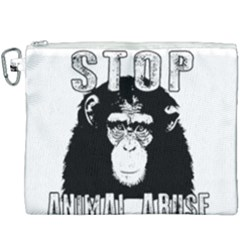 Stop Animal Abuse - Chimpanzee  Canvas Cosmetic Bag (XXXL)