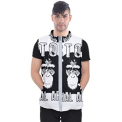 Stop Animal Abuse   Chimpanzee  Men s Puffer Vest