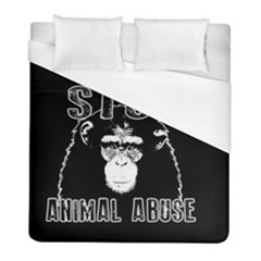 Stop Animal Abuse   Chimpanzee  Duvet Cover (full/ Double Size)