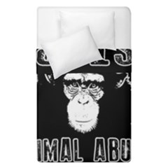 Stop Animal Abuse   Chimpanzee  Duvet Cover Double Side (single Size)