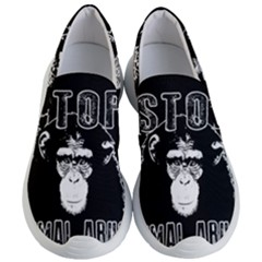 Stop Animal Abuse   Chimpanzee  Women s Lightweight Slip Ons by Valentinaart