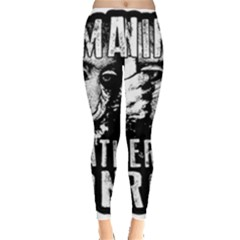 Animal Liberation Front   Chimpanzee  Leggings  by Valentinaart