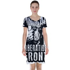 Animal Liberation Front   Chimpanzee  Short Sleeve Nightdress