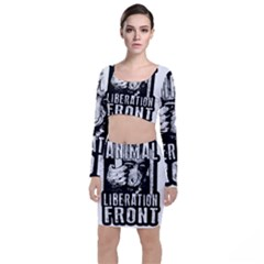 Animal Liberation Front   Chimpanzee  Long Sleeve Crop Top & Bodycon Skirt Set