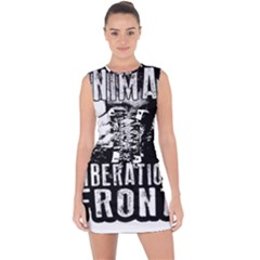 Animal Liberation Front   Chimpanzee  Lace Up Front Bodycon Dress