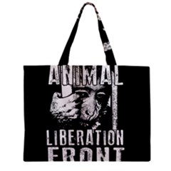 Animal Liberation Front   Chimpanzee  Zipper Mini Tote Bag by Valentinaart