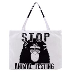 Stop Animal Testing   Chimpanzee  Zipper Medium Tote Bag