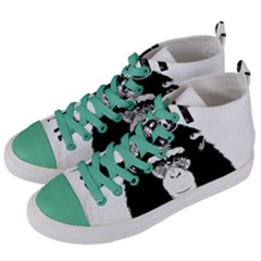 Stop Animal Testing   Chimpanzee  Women s Mid Top Canvas Sneakers by Valentinaart