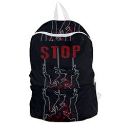 Stop Animal Testing   Rabbits  Foldable Lightweight Backpack by Valentinaart