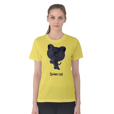 Spider Cat Women s Cotton Tee by Teresa20114