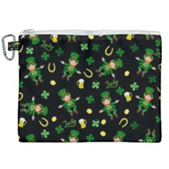 St Patricks Day Pattern Canvas Cosmetic Bag (xxl) by Valentinaart