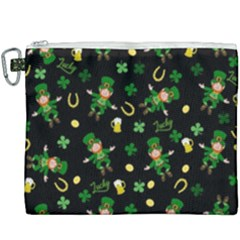 St Patricks Day Pattern Canvas Cosmetic Bag (xxxl) by Valentinaart